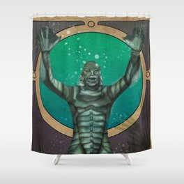 Creature From the Black Lagoon Nouveau Shower Curtain