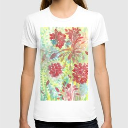Ixora and Ferns - Watercolor T-shirt