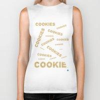 cookies Biker Tanks featuring COOKIES! by Lindsay Spillsbury