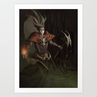 Hell's Guardian Art Print