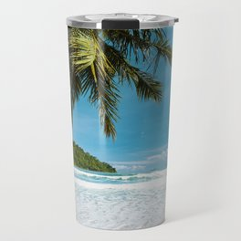 Tropical Palm Beach Travel Mug