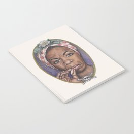 Watercolor Painting of Nina Simone Notebook
