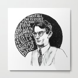 Atticus Finch Metal Print