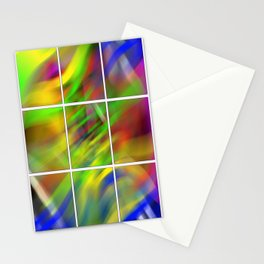 colourful abstraction Stationery Cards