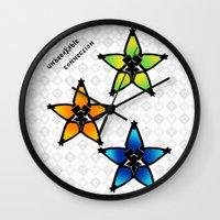kingdom hearts Wall Clocks featuring Kingdom Hearts - Wayfinders by Lunil