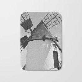 Windmill Antigua Fuerteventura Spain bw Bath Mat