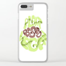 Avacado. Vegan plants base Clear iPhone Case