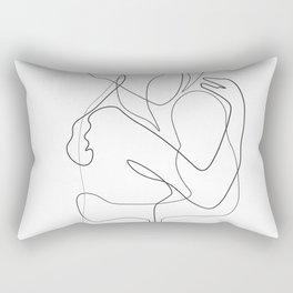 Lovers - Minimal Line Drawing Rectangular Pillow