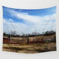 farm Wall Tapestries featuring Farm by 100 Watt Photography