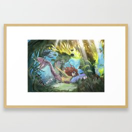 The Kelp Forest Mermaid Framed Art Print