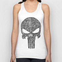 punisher Tank Tops featuring Punisher  by christoph_loves_drawing
