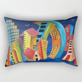 The Floating City Rectangular Pillow