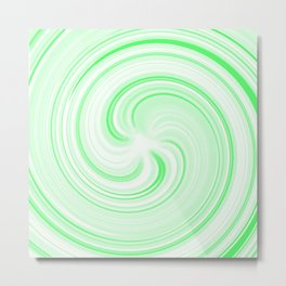 Lime Sundae Swirl Metal Print