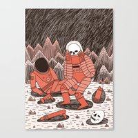 death Canvas Prints featuring Death in Space by Jack Teagle