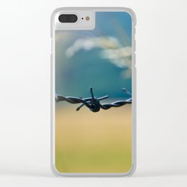 Love Knot - Barbed Wire Fence Clear iPhone Case