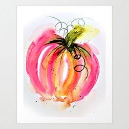 Pink Pumpkin Art Print