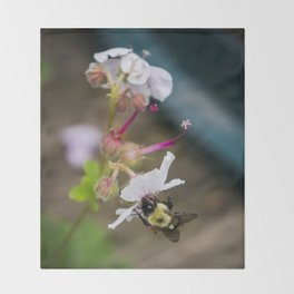 Being A Bee Throw Blanket