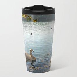 Swans in Autumn Travel Mug