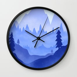Cold Winter Day Wall Clock