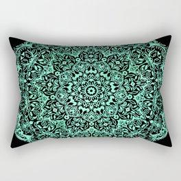 Mandala emerald green Rectangular Pillow