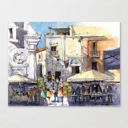 Strolling in Capri Canvas Print