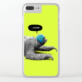 Speed Sloth Clear iPhone Case