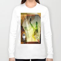soccer Long Sleeve T-shirts featuring Soccer by Robin Curtiss