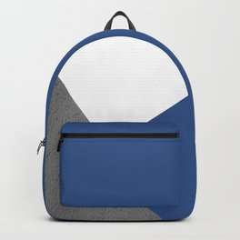 CONCRETE SERIES Classic blue trichromatic geometric collage Backpack