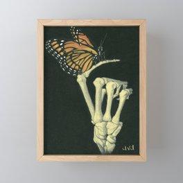 Butterfly & Bones Framed Mini Art Print