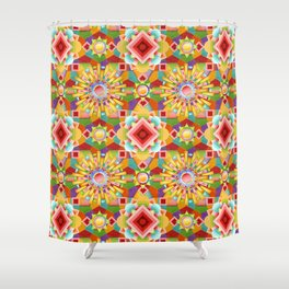 Art Deco Circus Shower Curtain