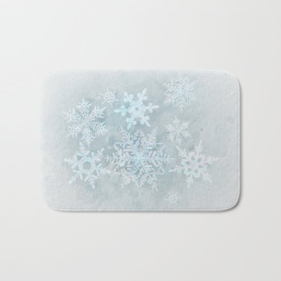 Snow is coming Bath Mat