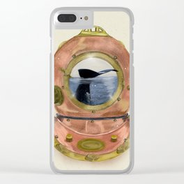 gone diving Clear iPhone Case