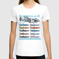 formula 1 T-shirts featuring Formula E Cars by Pleasure Time
