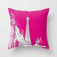 Glorious Paris - Pink Throw Pillow