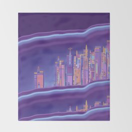 Saturnian Ultraviolet Wave Two Throw Blanket
