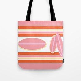 Surfer Stripes in Pink Tote Bag
