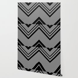 Back and White Lines Minimal Pattern no.2 Wallpaper