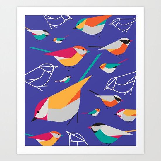 Birds Talk Art Print