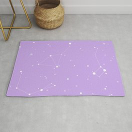 Pastel Purple Night Sky Rug