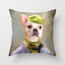 Chic French Bulldog Throw Pillow