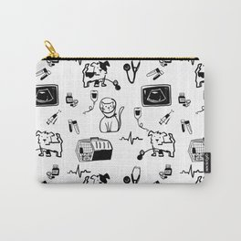 Dr Fluffton's Medicine day Black and White Carry-All Pouch