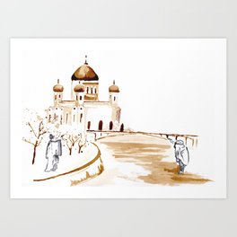 Two wisemen painting a brand new world Art Print