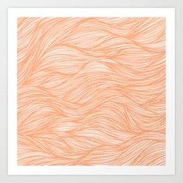 Cantaloupe Flowing Lines Art Print