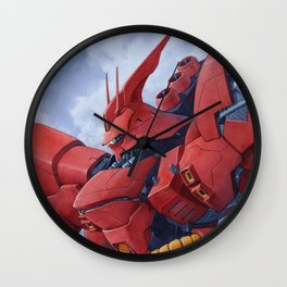 Sazabi watercolor Wall Clock