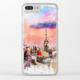 Sao Paulo - WaterColor 003 Clear iPhone Case