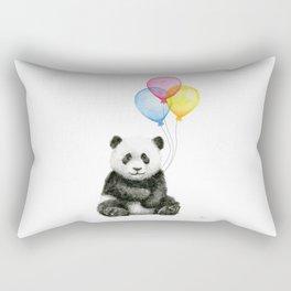 Panda Baby with Balloons Rectangular Pillow