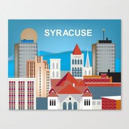 Syracuse, New York - Skyline Illustration by Loose Petals Canvas Print