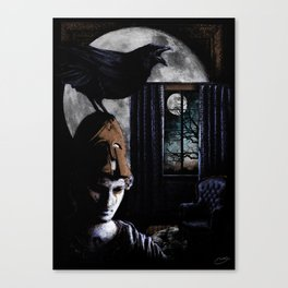 """The Raven"" - Edgar Allan Poe Series Canvas Print"