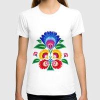 folk T-shirts featuring folk flower by bachullus