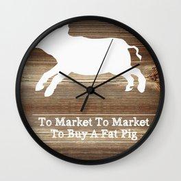 To Market Wall Clock